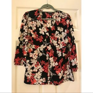 Ellen Tracy Floral Blouse